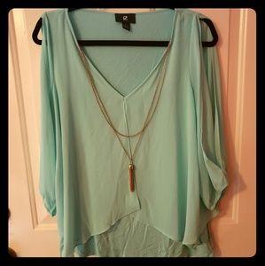 Blue dress top